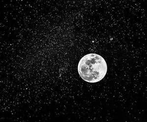 stars, moon, and black image