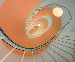 peach, spiral, and staircase image