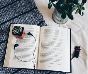 book, music, and plants image