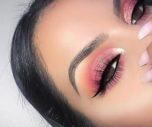 eyeshadow, glitter, and pink image