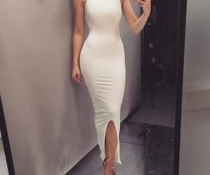 sexy party dress, halter prom dress, and sheath prom dress image