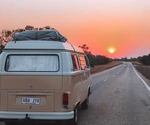 orange, sun, and travel image