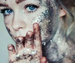girl, glitter, and tumblr image