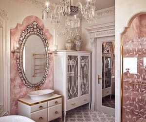 pink, home, and bathroom image