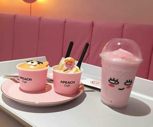 pink, food, and ice cream image