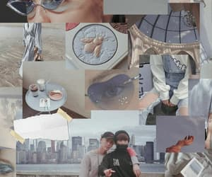 aesthetic, blue, and jin image