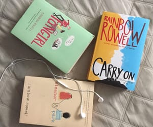 books, carry on, and in love image