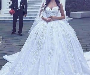 wedding, dress, and bride image
