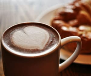coffee, chocolate, and heart image