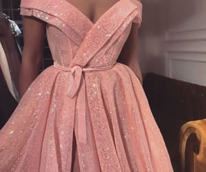 dress, glamour, and pink image