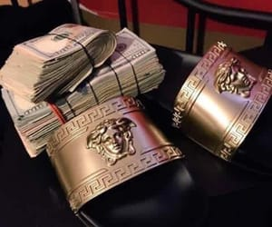 money, Versace, and gold image