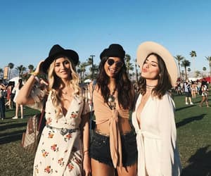 coachella, outfits, and friendship image