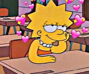 simpsons, lisa, and hearts image