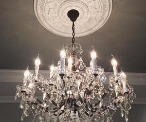 interior, chandelier, and luxury image