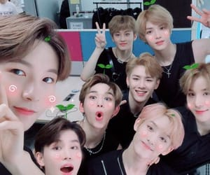 jungwoo, kun, and lucas image