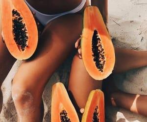 beach, fruit, and health image