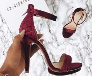 red, heels, and marble image