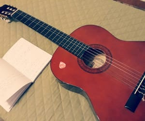 guitar, music, and writing image