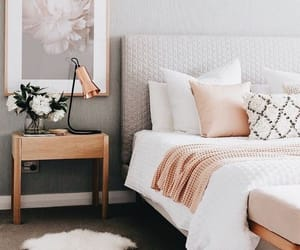 bed, pillows, and style image
