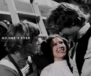 carrie fisher, han solo, and luke skywalker image