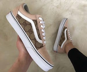 vans, brown, and shoes image