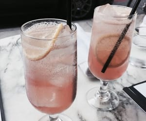 drink, lemon, and pink image