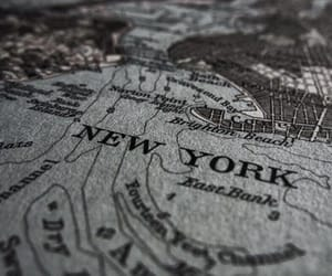 map, new york, and aesthetic image