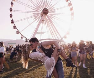 love, coachella, and couple image