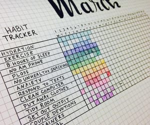 habits, bullet journal, and inspiration image