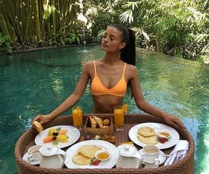 bali, breakfast, and paradise image