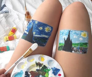 aesthetic, beauty, and paint image