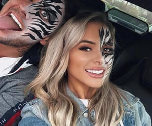 face paint, I Love You, and relationship goals image