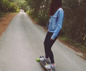 girl, longboard, and tumbrl image