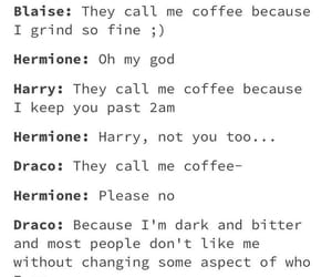 coffee, funny, and harrypotter image