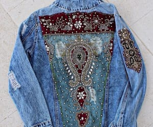 clothes, denim, and embellished image