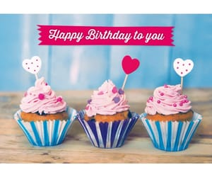 birthday, heart, and b'day image
