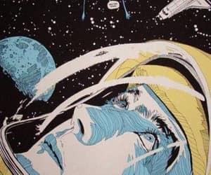 art, cosmos, and cosmonaut image