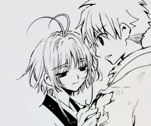 anime, couple, and sakura image