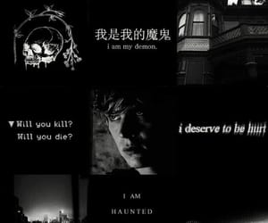black and white, tate langdon, and moodboard image
