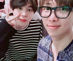 rm, bts, and park jimin image