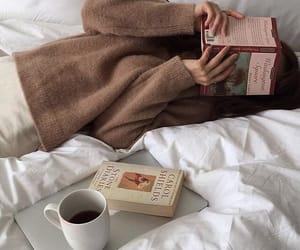 book, coffee, and fashion image