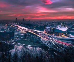 architecture, aurora, and cityscape image