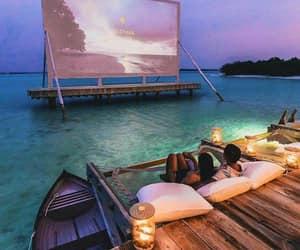 beach, couple, and movie image