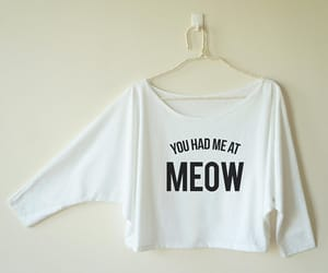 cat, graphic, and meow image