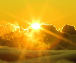 yellow, sun, and clouds image