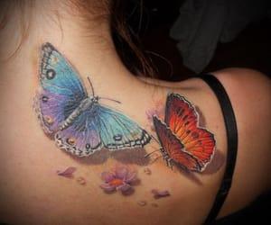 belleza, moda, and tatuaje image
