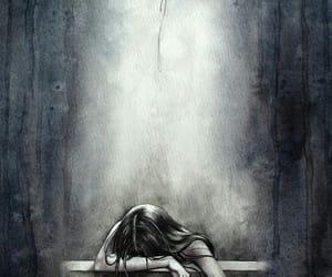 sad, art, and draw image