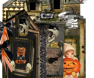 etsy, junk journal, and Halloween image