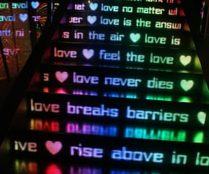 love is in the air, love is the answer, and love never dies image
