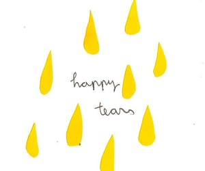 yellow, happy, and tears image
